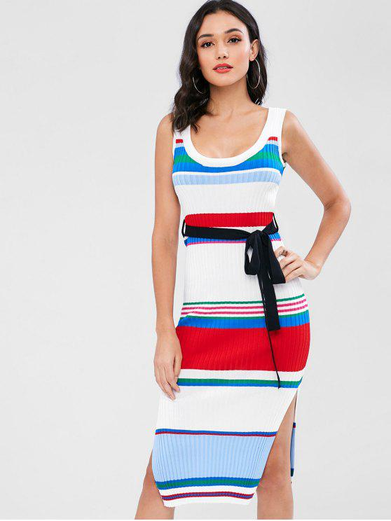 online Striped Knit Tank Dress - MULTI ONE SIZE
