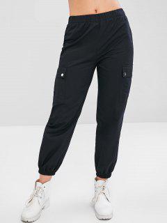 Sports Cargo Jogger Pants - Black M