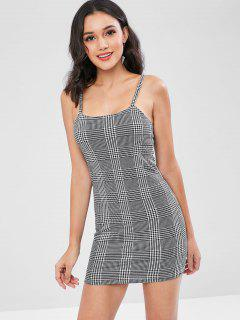 Houndstooth Cami Bodycon Party Dress - Multi L