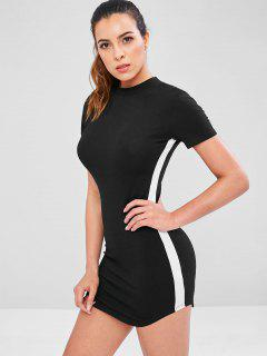 Contrast Side Short Athletic Dress - Black M