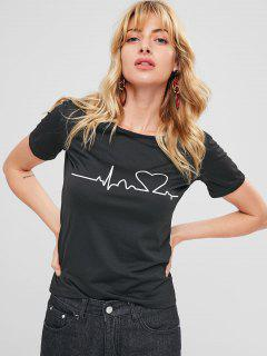 Graphic T-shirt - Black Xl