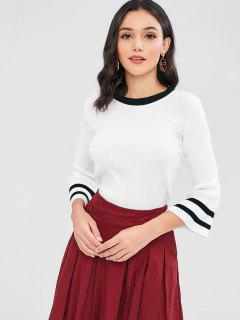 Stripe Ribbed Sweater - White