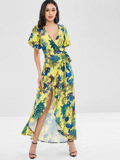 Floral Faux Wrap Maxi Dress - Multi M
