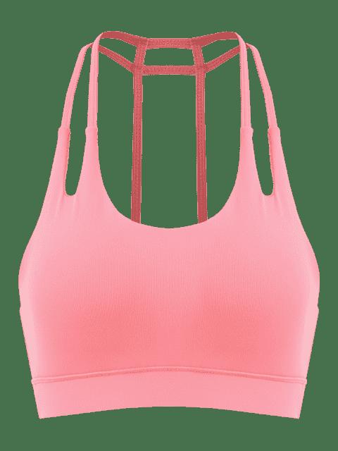 Caged Rücken Gepolsterter Gym BH - Wassermelonen Rosa M Mobile