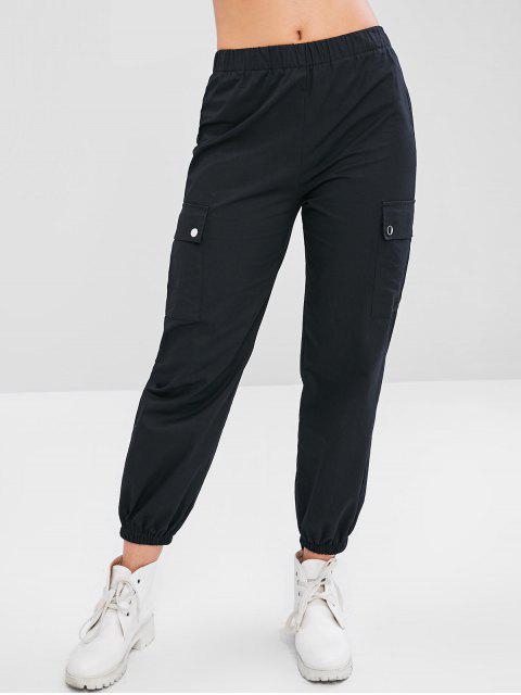 Pantalon de Cargo de Jogging de Sport - Noir L Mobile