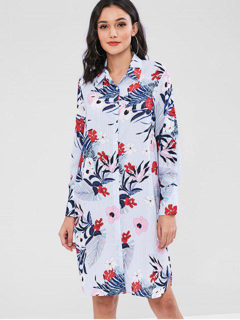 Robe chemise imprimée clashing print - Multi L Mobile