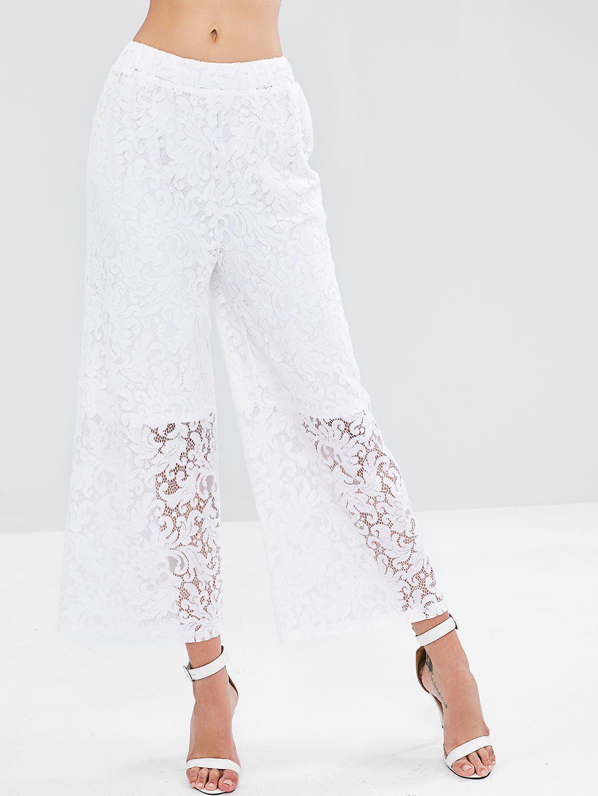 Wide Leg Lace Palazzo Pants