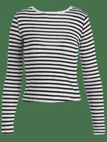 A Abierta Multicolor Camiseta Rayas Con Espalda qvRwxRtSE