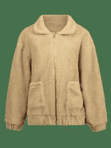 Fluffy Winter Zip M 243;n Marr Up Camel Coat f56WUB6q