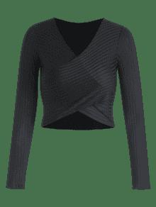 Cuello M De Camiseta Negro En Solapa V Con xf88ztv