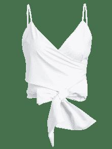 Blanco S Cami Top Tie Wrap Cropped xBgf4zq