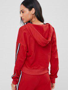 Sudadera Stripes Lava Rojo M Cremallera Con Sporty qqxPw0OZ