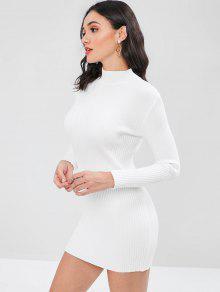 Cuello Vuelto Punto Blanco De Con Vestido q1TY8Ow
