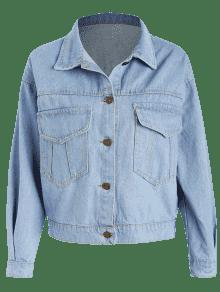 S Azul Suave Denim Jacket Hem Frayed wqUz47q