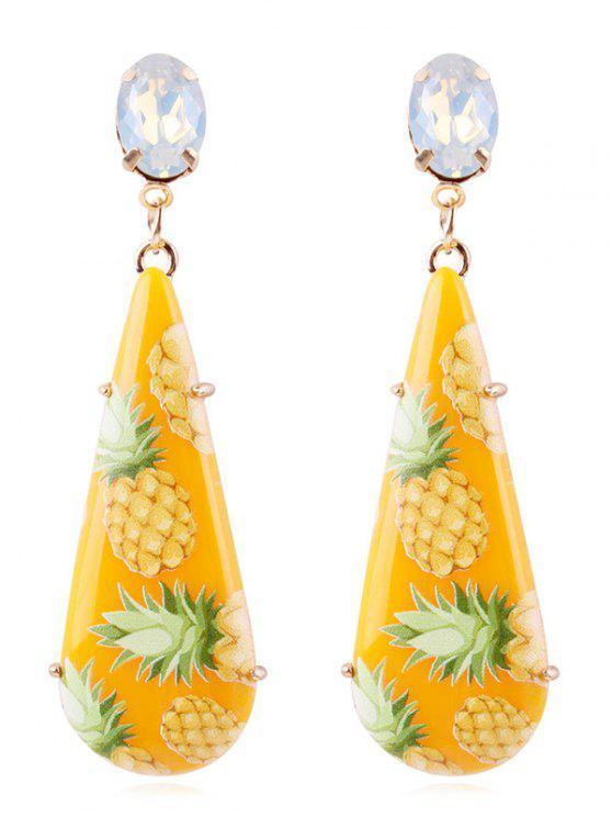 38c8344ce 9% OFF] 2019 Pineapple Printed Teardrop Drop Earrings In CORN YELLOW ...