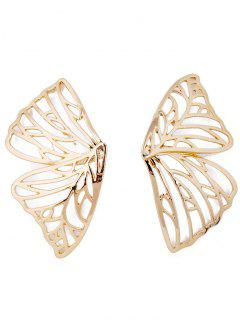 Hollow Butterfly Design Stud Earrings - Gold