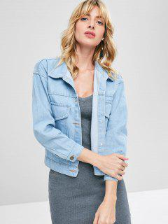 Light Wash Jean Jacket - Powder Blue S