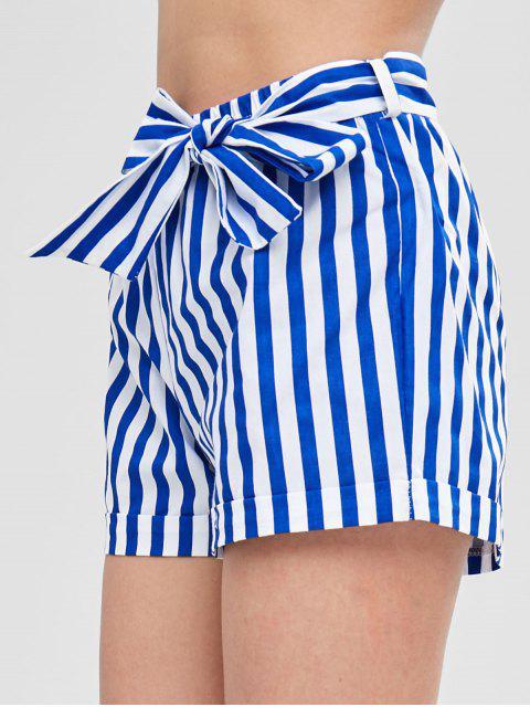 Short Rayé Ceinturé - Bleu XL Mobile