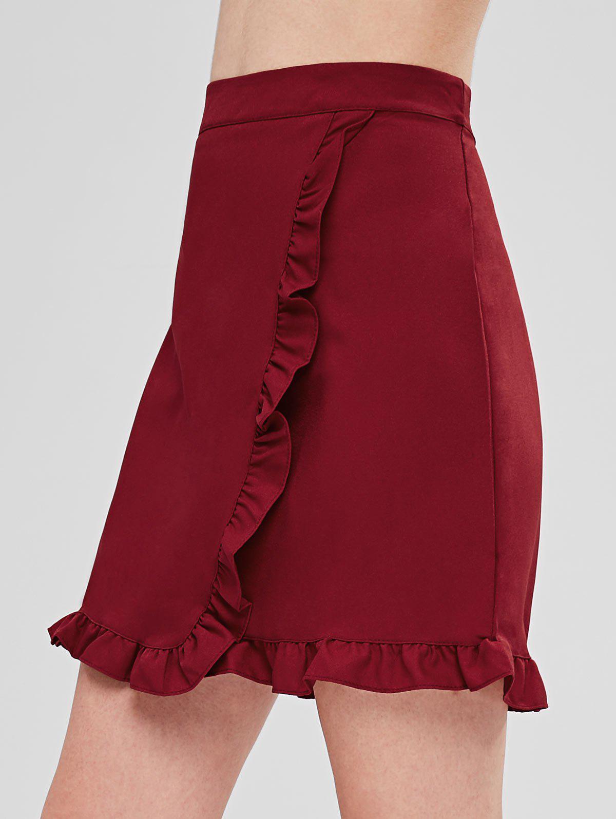 Ruffles Trim Mini Skirt