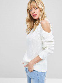 De Blanco Hombro Abierto Jersey Pullover 1Z0Zw