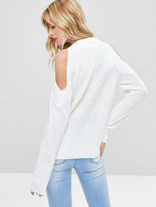 ... Pullover Open Shoulder Sweater  Pullover Open Shoulder Sweater. new Pullover  Open Shoulder Sweater - WHITE ONE SIZE 8660702f6