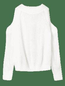 65% OFF  2019 Pullover Open Shoulder Sweater In WHITE ONE SIZE  11462ccde