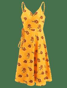 Vestido Floral Camisero De Con Abeja Estampado Amarilla S 6v1q6wHxr