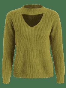 Vuelto Cuello Cuello Verde Amarillo De Con Alto Jersey S z6Xqgw