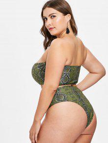 Conjunto De Honor Palabra Helecho Serpiente Verde De Talla De 1x De Piel Bikini De De rrBIqd