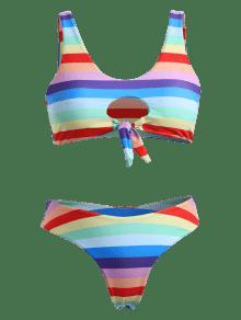 Gran Multicolor De De L Bikini Con o Rayas A Tama Juego Ojal Rayas De wz1pnBqB7