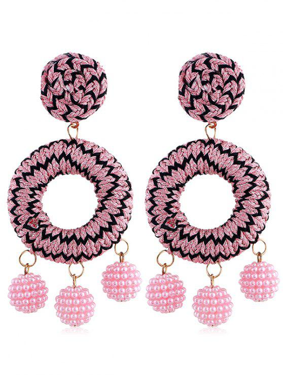 Bohemian Beads Ball Drop Earrings - Rosa