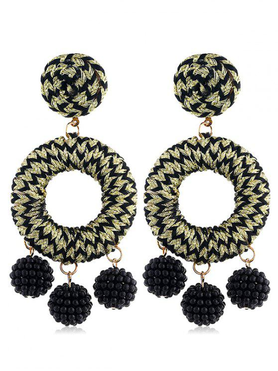 Bohemian Beads Ball Drop Earrings - Oro