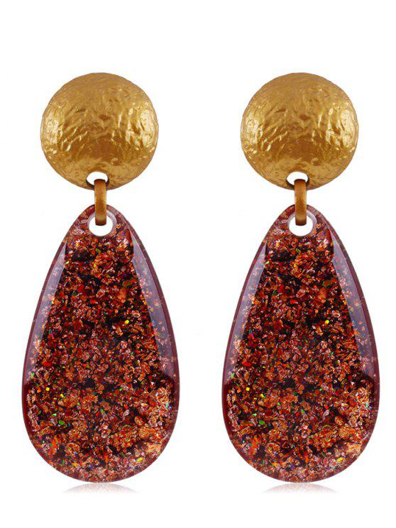 18 Off 2019 Ethnic Teardrop Resin Earrings In Chestnut Red Zaful