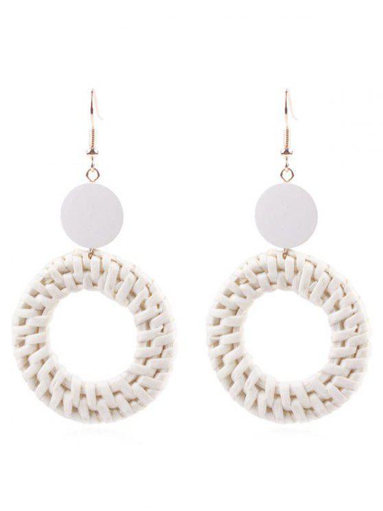 Boucles d'oreilles en forme de paille - Blanc Lait