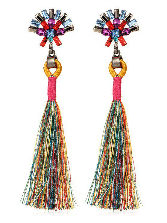 Bohemia Long Tassels Pendientes - Multicolor
