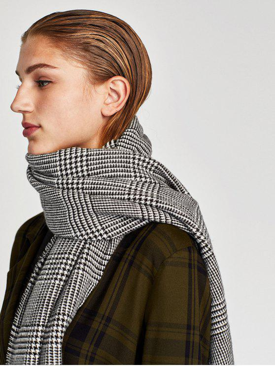 latest Houndstooth Fall Scarf - GRAY ONE SZIE