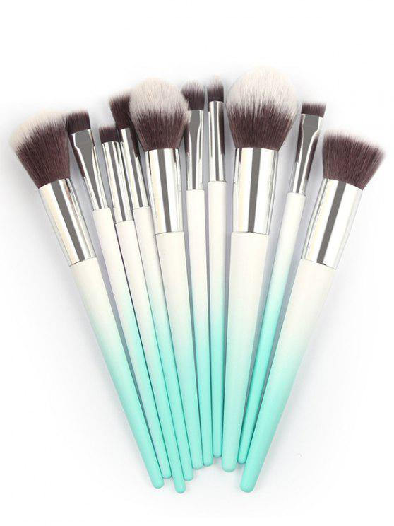 ladies Ombre Handle Makeup Brushes Set - MACAW BLUE GREEN