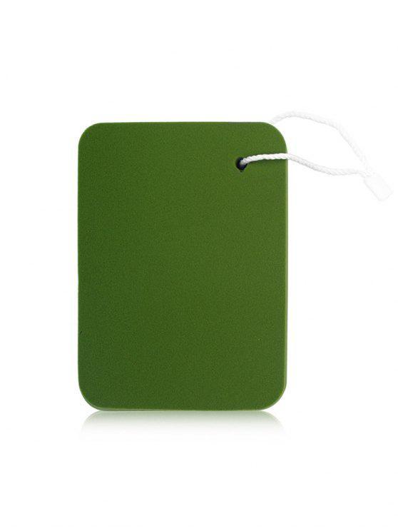 Eponge Bouffante Cosmétique en Forme Carrée - Vert Algue