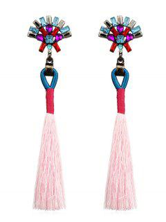 Bohemian Long Tassels Earrings - Pig Pink