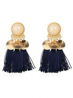 Bohemian Disc Tassels Earrings - Midnight Blue