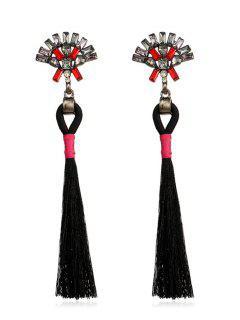 Bohemian Long Tassels Earrings - Black