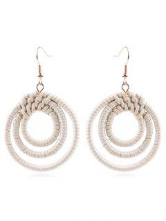 Multi Hoop Straw Earrings - Warm White