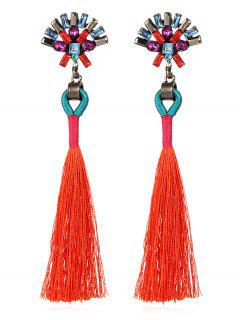 Bohemian Long Tassels Earrings - Shocking Orange