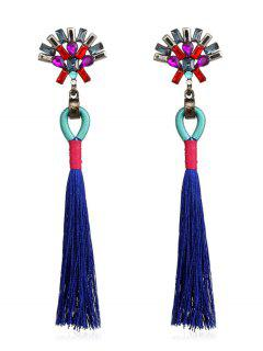 Bohemian Long Tassels Earrings - Earth Blue