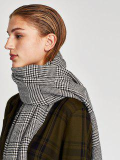 Houndstooth Fall Scarf - Gray One Szie