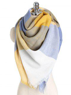 Color Block Soft Shawl Scarf - #007 One Szie