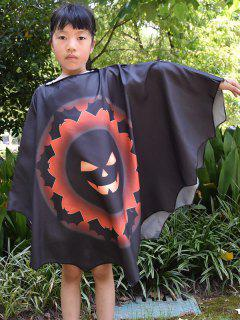 Halloween Elements Printed Children Bat Cabo - Negro Azabache