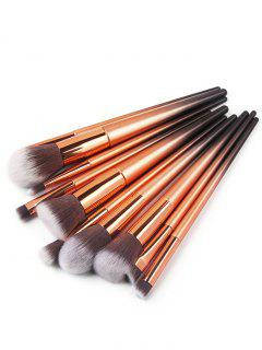 Ombre Handle Makeup Brushes Set - Gold