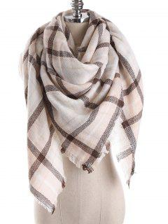 Checked Wrap Shawl Blanket Winter Scarf - Multi-d One Szie