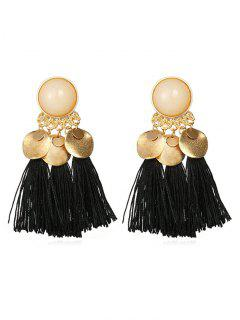Bohemian Disc Tassels Earrings - Black